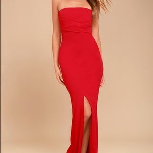 Lulus Red Bow Maxi Dress
